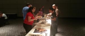 Omaha Empowerment Breakfast buffet. Omaha's small business networking event