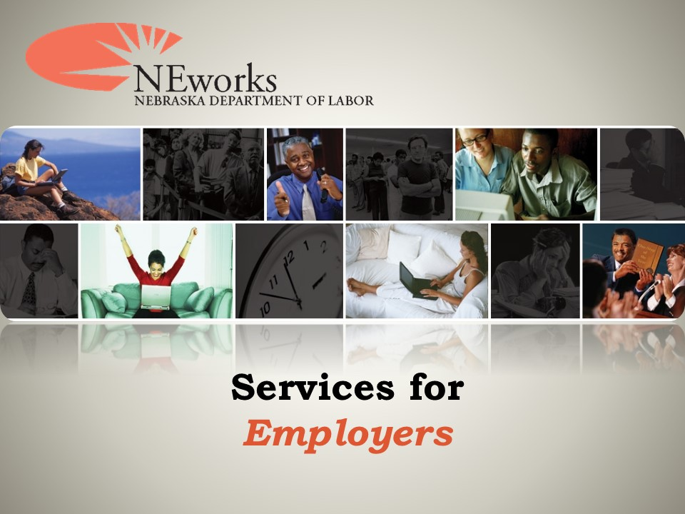 Presentation by The NE Dept. of Labor